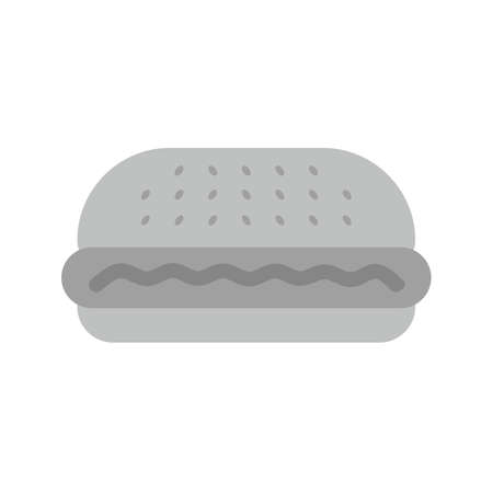 eatables: Burger, hamburger, fast food icon vector image. Can also be used for eatables, food and drinks. Suitable for use on web apps, mobile apps and print media