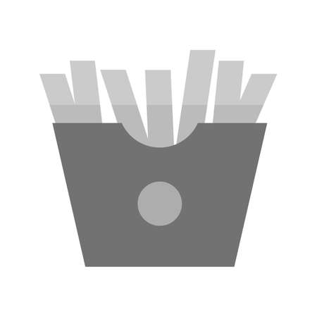 potato chip: Fries, snack, potato icon vector image. Can also be used for eatables, food and drinks. Suitable for use on web apps, mobile apps and print media
