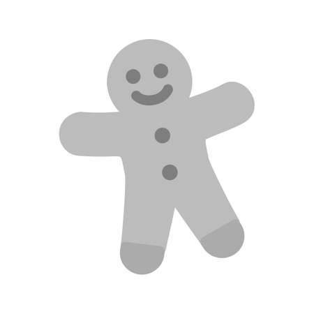 gingerbread cake: Gingerbread, christmas, baked icon vector image. Can also be used for sweets and confectionery. Suitable for use on web apps, mobile apps and print media.