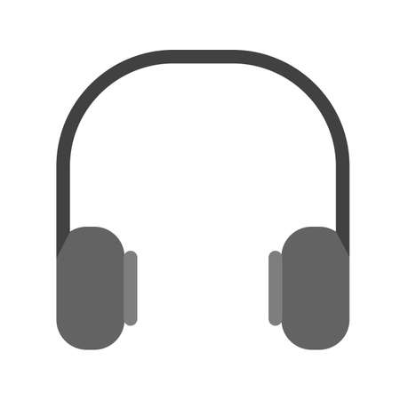 earbuds: Headphones, music, computer icon vector image. Can also be used for computer and hardware. Suitable for use on web apps, mobile apps and print media.