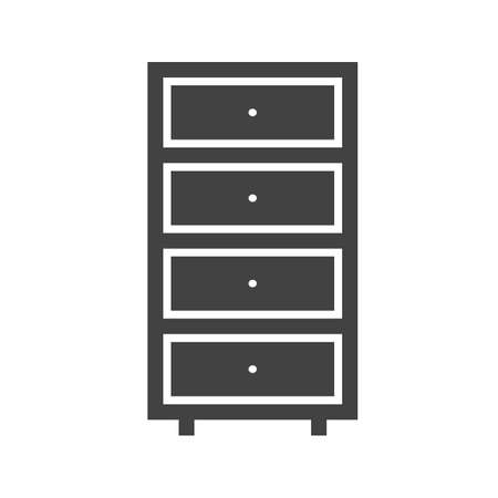 kitchen counter: Cabinet, filing, file icon vector image.Can also be used for furniture design. Suitable for mobile apps, web apps and print media.