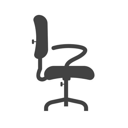 revolving: Chair, office, seat icon vector image.Can also be used for furniture design. Suitable for mobile apps, web apps and print media. Illustration