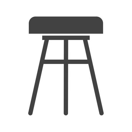 wooden stool: Stool, chair, wooden icon vector image.Can also be used for furniture design. Suitable for mobile apps, web apps and print media. Illustration