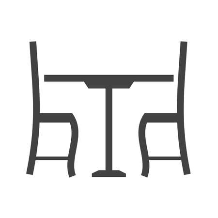 lunch table: Lunch, table, family icon vector image.Can also be used for furniture design. Suitable for mobile apps, web apps and print media.