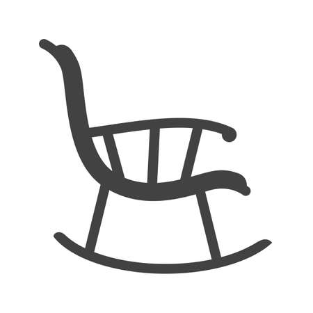 old furniture: Chair, rocking, furniture icon vector image.Can also be used for furniture design. Suitable for mobile apps, web apps and print media.