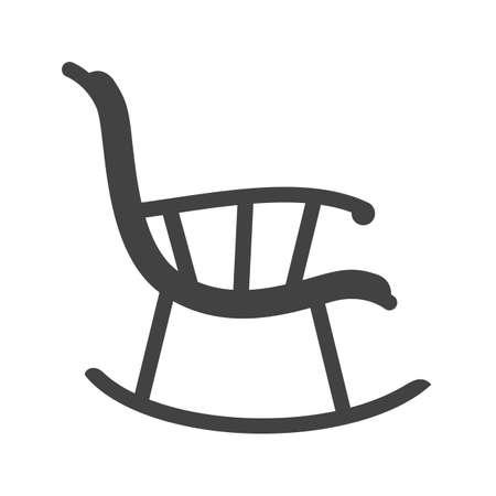 Stuhl, Schaukel, Möbel Symbol Vektor image.Can auch für Möbel-Design verwendet werden. Geeignet für mobile Anwendungen, Web-Anwendungen und Printmedien. Standard-Bild - 44385247