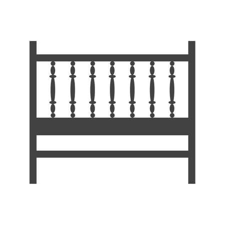 Cot, baby, bed icon vector image.Can also be used for furniture design. Suitable for mobile apps, web apps and print media.