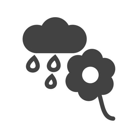 deisgn: Flower, rain, nature icon vector image.Can also be used for gardening. Suitable for mobile apps, web apps and print media.
