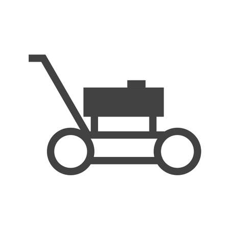 mower: Lawn, mower, landscaping icon vector image.Can also be used for gardening. Suitable for mobile apps, web apps and print media. Illustration