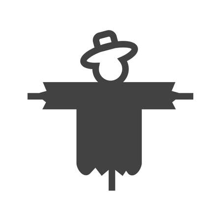 scare: Scarecrow, scare, crow icon vector image.Can also be used for gardening. Suitable for mobile apps, web apps and print media. Illustration