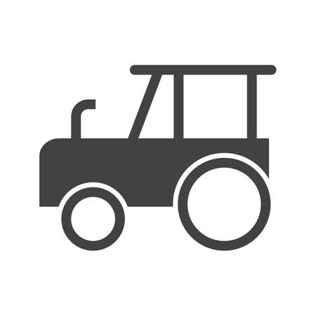 crops: Tractor, agriculture, field icon vector image.Can also be used for gardening. Suitable for mobile apps, web apps and print media. Illustration