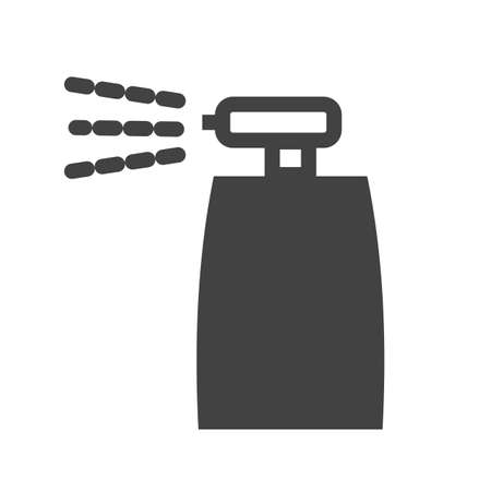 pressure bottle: Bottle, spray, insecticide icon vector image.Can also be used for gardening. Suitable for mobile apps, web apps and print media. Illustration