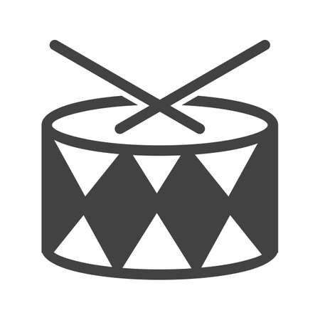 drummer: Drum, roll, drummer icon vector image.Can also be used for toy and games. Suitable for mobile apps, web apps and print media.