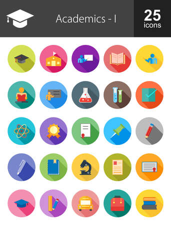 literate: Education, Academics and Science icon set. Suitable for use on web apps, mobile apps, and print media. Illustration