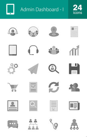admin: Admin Dashboard, Web, Management icon set. Suitable for use on web apps, mobile apps, and print media.