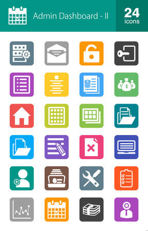 dashboard: Admin Dashboard, Web, Management icon set. Suitable for use on web apps, mobile apps, and print media.