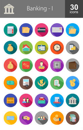 print media: Banking, business, finance Iconset. Suitable for web apps, mobile apps and print media. Illustration