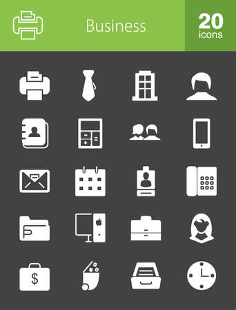 financing: Banking, business, finance icon set. Can also be used for technology, economics, accounting. Suitable for web apps, mobile apps and print media.