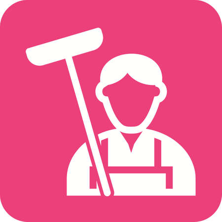 house cleaner: Cleaner, house, service icon vector image. Can also be used for professionals. Suitable for web apps, mobile apps and print media. Illustration