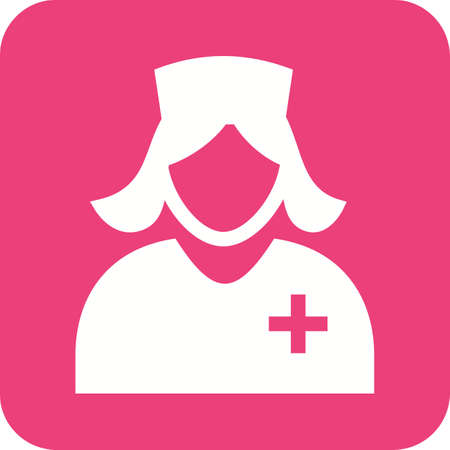 practitioners: Nurse, healthcare, female icon vector image. Can also be used for professionals. Suitable for web apps, mobile apps and print media.