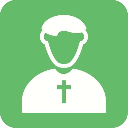 sacerdote: Sacerdote, imagen cat�lico, cristiano del icono del vector. Tambi�n se puede utilizar para profesionales. Adecuado para aplicaciones web, aplicaciones m�viles y los medios impresos.