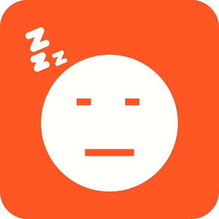 yawn: Sleepy, tired, sleeping icon vector image. Can also be used for emotions and halloween. Suitable for mobile apps, web apps and print media.