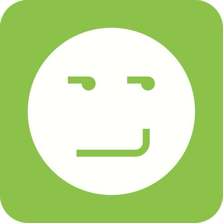 smirking: Smirking, mood, expression, upset icon vector image. Can also be used for emotions and halloween. Suitable for mobile apps, web apps and print media.