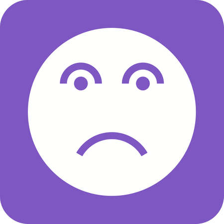 disappointment: Disappointed, frustrate, sad icon vector image. Can also be used for emoctions, fun and party. Suitable for mobile apps, web apps and print media. Illustration