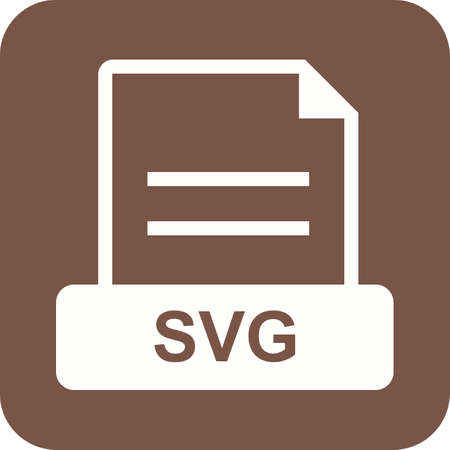 svg: SVG, file, symbol icon vector image. Can also be used for file format, design and storage. Suitable for mobile apps, web apps and print media.