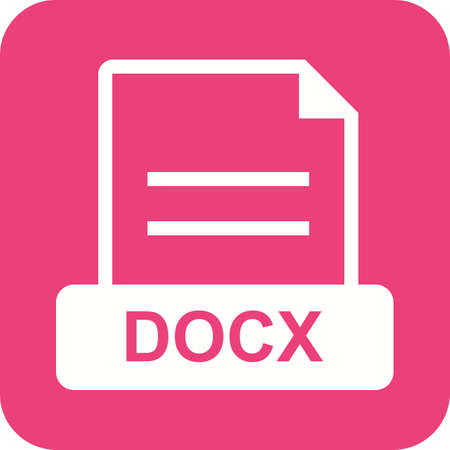 png: DOCX, document, file icon vector image. Can also be used for file format, design and storage. Suitable for mobile apps, web apps and print media. Illustration