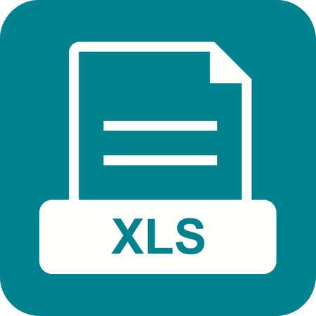 afbeelding pictogram vector XLS bestand, excelleren. Kan ook worden gebruikt voor het bestandsformaat, vormgeving en opslag. Geschikt voor mobiele apps, web apps en gedrukte media.
