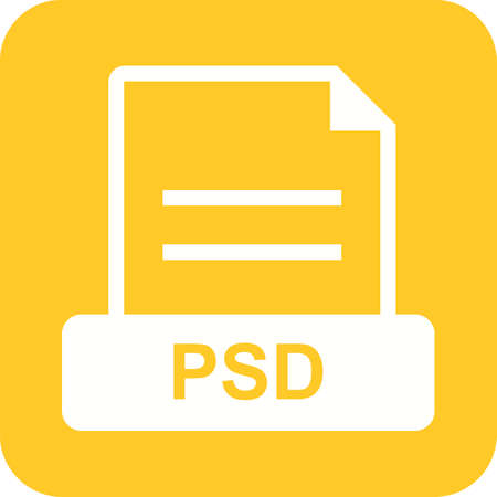 psd: PSD, file, image icon vector image. Can also be used for file format, design and storage. Suitable for mobile apps, web apps and print media.