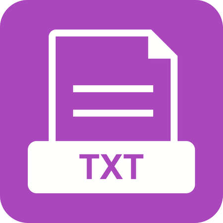 txt: TXT, file, extension icon vector image. Can also be used for file format, design and storage. Suitable for mobile apps, web apps and print media.
