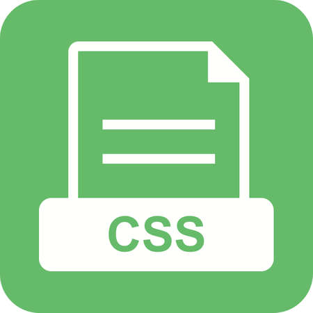 css: CSS, format, document icon vector image. Can also be used for file format, design and storage. Suitable for mobile apps, web apps and print media.