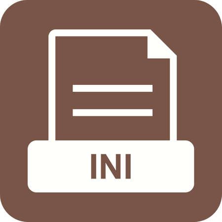 file types: INI, xml, type icon vector image. Can also be used for file format, design and storage. Suitable for mobile apps, web apps and print media.
