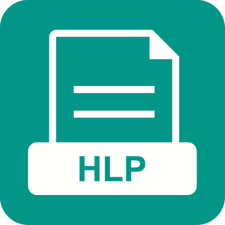 excel: HLP, office, document icon vector image. Can also be used for file format, design and storage. Suitable for mobile apps, web apps and print media. Illustration