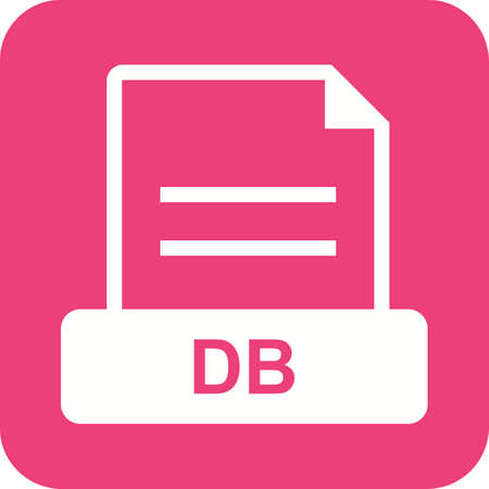 db: DB, data, storage icon vector image. Can also be used for file format, design and storage. Suitable for mobile apps, web apps and print media.