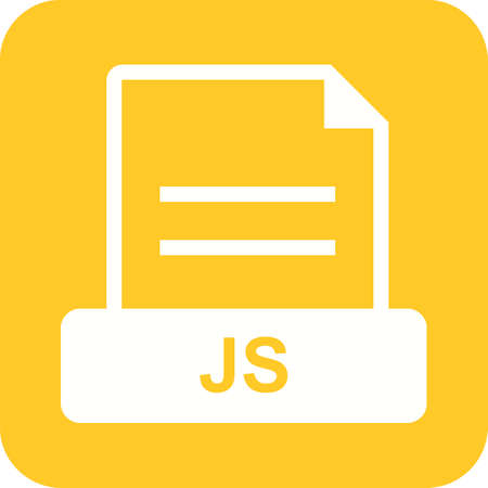 JS, file, web icon vector image. Can also be used for file format, design and storage. Suitable for mobile apps, web apps and print media.