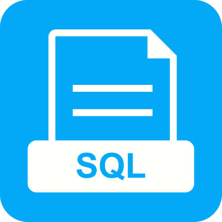 sql: SQL, code, algorithm icon vector image. Can also be used for file format, design and storage. Suitable for mobile apps, web apps and print media.