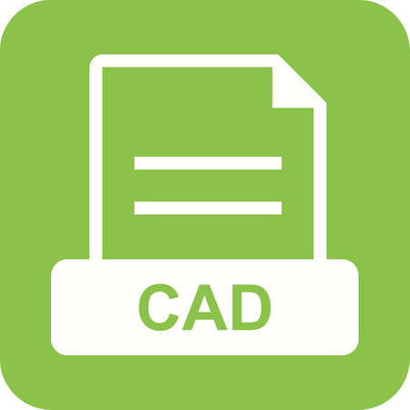 cad: CAD, file, file extension icon vector image. Can also be used for file format, design and storage. Suitable for mobile apps, web apps and print media.