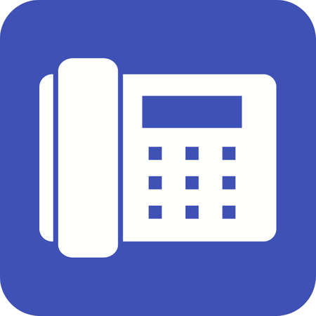 office appliances: Telephone, office, dial icon vector image.Can also be used for home electronics and appliances. Suitable for mobile apps, web apps and print media.