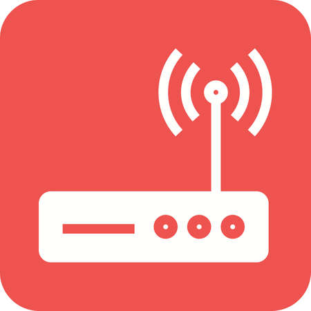 network router: Router, wifi, modem icon vector image.Can also be used for home electronics and appliances. Suitable for mobile apps, web apps and print media.