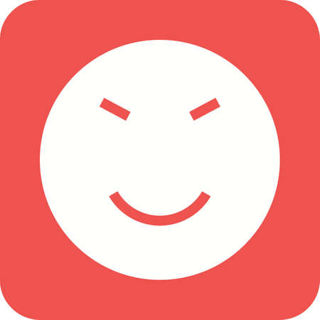 Amused, theme, expression, upset icon vector image. Can also be used for emotions and halloween. Suitable for mobile apps, web apps and print media. Illustration