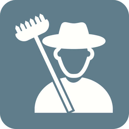 agriculture icon: Farmer, corn, agriculture icon vector image. Can also be used for activities. Suitable for use on web apps, mobile apps and print media.