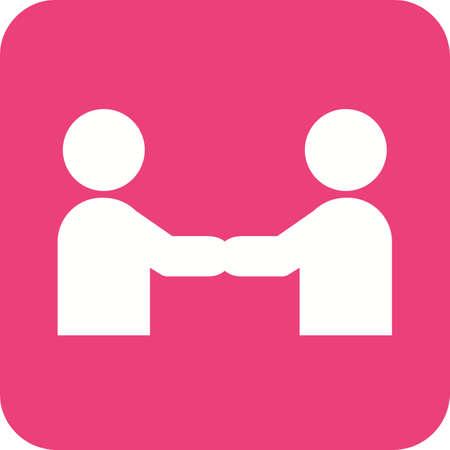 비즈니스, 핸드 셰이크, 신뢰 아이콘 벡터 이미지입니다. 또한 활동에 사용할 수 있습니다. 웹 앱, 모바일 앱 및 인쇄 매체에서 사용하기에 적합합니다.