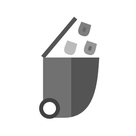 Recycler, bin, le recyclage, image vectorielle poubelle icône. Peut aussi être utilisé pour les affaires, finances et comptabilité. Convient pour les applications Web, des applications mobiles et les médias d'impression. Banque d'images - 45055341
