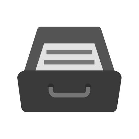 Drawer, open, wood icon vector image. Can also be used for business, finance and accounts. Suitable for web apps, mobile apps and print media.