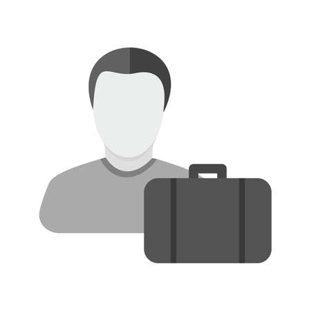 Accountant, coins, man, cash icon vector image.Can also be used for banking, finance, business. Suitable for web apps, mobile apps and print media.