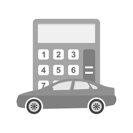 leasing: Calculator, pencil, notepad icon vector image.Can also be used for banking, finance, business. Suitable for web apps, mobile apps and print media.