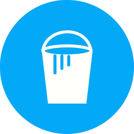 paint container: Bucket, paint, plastic icon vector image.Can also be used for art and designing. Suitable for mobile apps, web apps and print media. Illustration